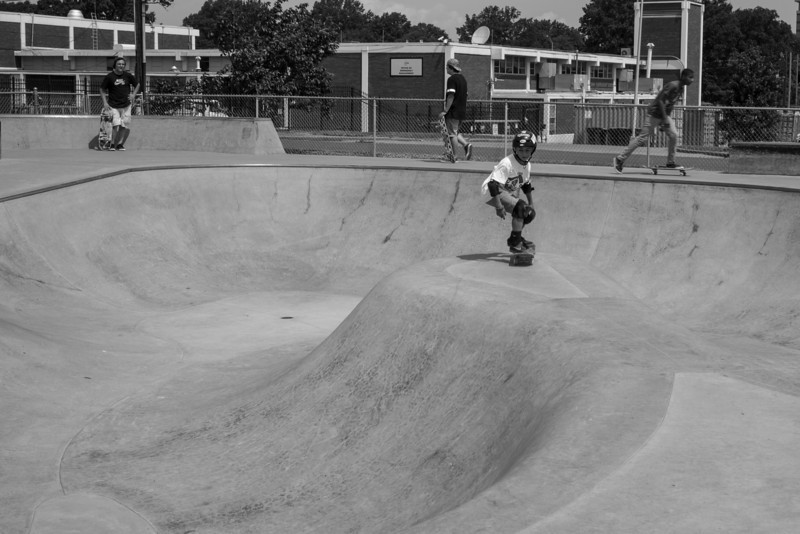 The skate park on a busy Monday