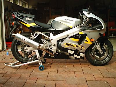 Jason's street bike a 1998 Kawasaki ZX-7R