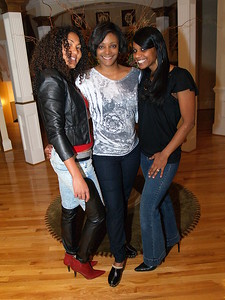 (L) to (R) Nicola, Sybrina Dean Stupart and Ayana