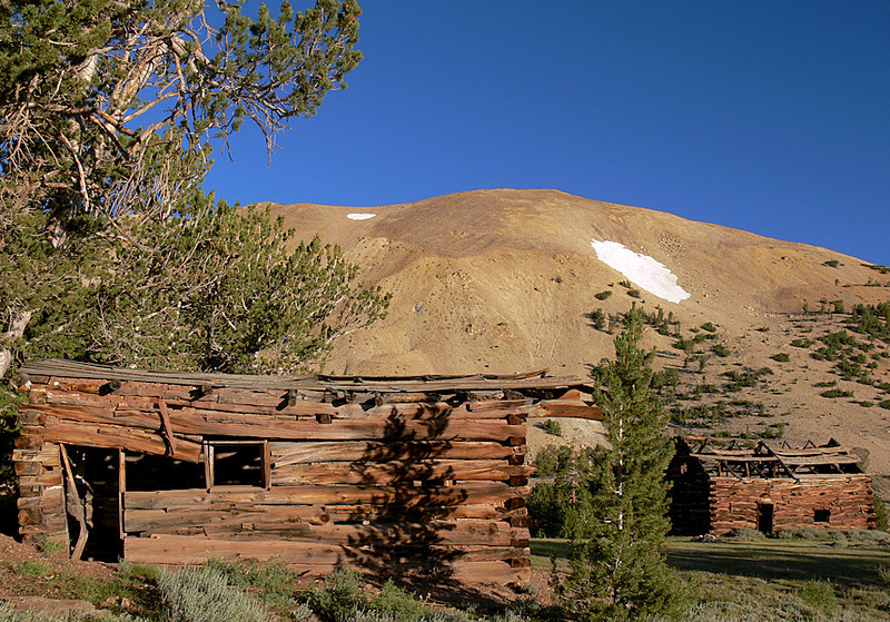 "The ""town"" of Belfort (established 1880) at the base of Wheeler Peak, elevation 11,664 feet."