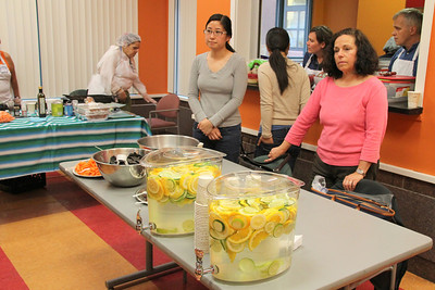 Demonstrations of healthy, easy to prepare and good tasting food.  All of the food shown was served to those who attended.