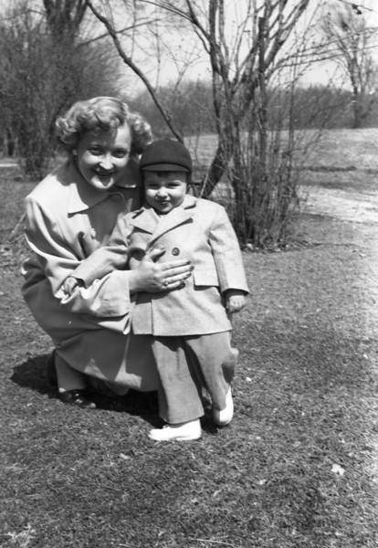 Mom & Me.  This was taken in Grandpa Collins' yard.