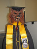 Professor TreeWolf celebrates my master's degree graduation, May 2013.