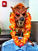This is Kool Kat Tree Wolf. It's the good ol' summertime and he's all decked out ready for the sun and surf! Woo hoo! Hang 10, 'Wolf!