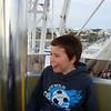 Matt on the ferris wheel.
