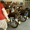 Bikes (and Colin's butt) in the Heggie's garage in Columbia, MO