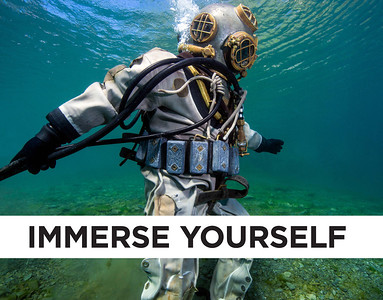Immerse Yourself is an exhibit that emerged from three years of photography expeditions by Jennifer Idol, The Underwater Designer. This book highlights the most memorable moments from the exhibit. Images depicted include underwater cave exploration and historic dive equipment usually only found in museums. An unexpected journey, these ventures depict surprising images that help you explore remote and challenging underwater environments.<br /> <br /> Some of the work created required specialized scuba diving certifications and experience that included full cave, trimix, and side mount. All photos were created using Nikon D90 and D600 cameras with a variety of lenses, underwater enclosures, lighting systems, and teams of divers.