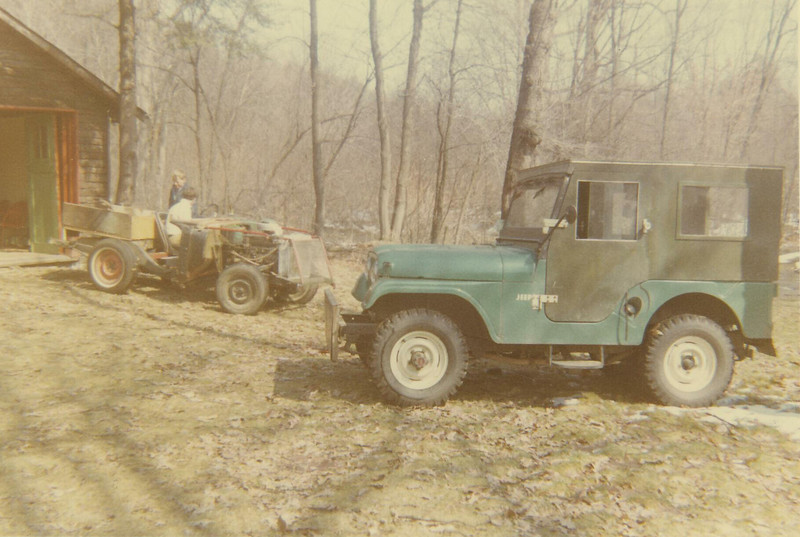 That's my '61 Jeep CJ-5 with wooden cab I built.
