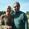 Dad & our blushing bride, Linda.