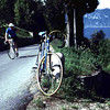 Daniel Block rides toward me and my Colnago near Lake Garda. We spent a week riding along the shore and up into the foothills of the Dolemites.
