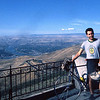 Fabio Amici, our summer guest from Perugia, rode with me from Lewiston to the top of Lewiston  Hill, an elevation gain of nearly 2,500 feet.