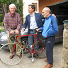 I am with Flavio and his father, Nando, with my Olmo I have stored at the Rossetti house in Padova for nearly 15 years. I gave the bike to Flavio's son, Giovanni.