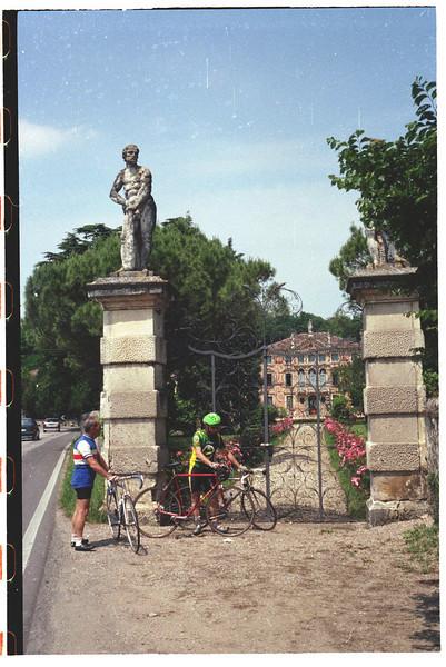 Flavio Rossetti and his father Nando at villa near Padova.