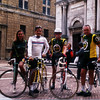 I am at center with my Italian cycling friends Pia, Antonio and Ninni.