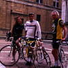 My friends Pia, Antonio and Ninni pause during a morning ride we took from their homes in Perugia to a nearby village.