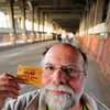 Me with my trolley ticket that got me across this bridge on the last trolley ride, January 14, 1954.  I was 5 at the time.  Funny, I don't remember crossing this bridge.