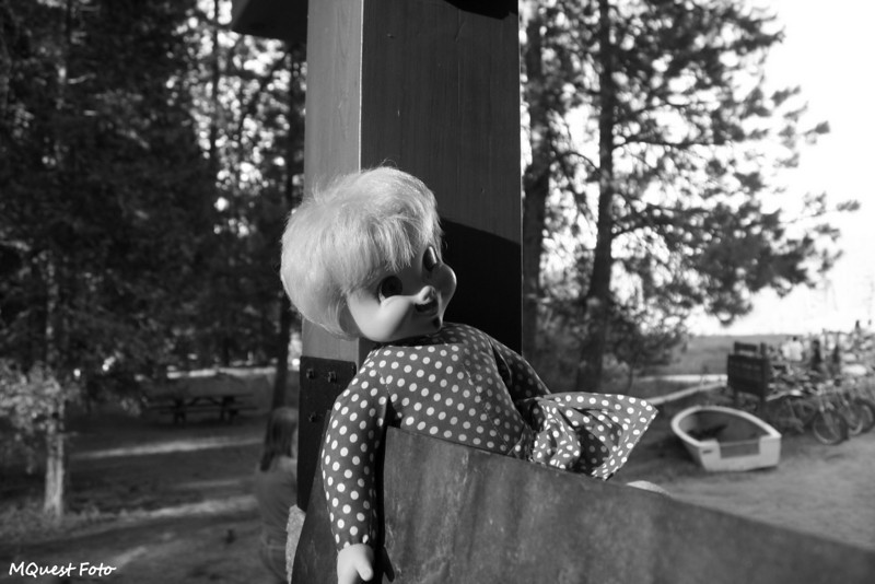 A Doll - Loved, Tossed and Desecrated -(To violate the sacredness of a Toys R Us Slut) Found  @ Hume Lake - Sequoia