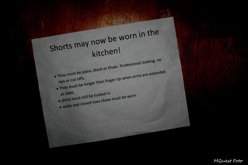 Shorts in the kitchen