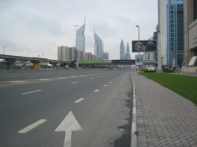 Sheik Zayed Road outside the Fairmont.