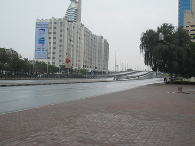 Satwa, the lower road leading to Trade Centre roundabout.  It was so silent and empty that it was actually quite eerie, like the city had been evacuated.