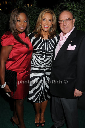 Star Jones, Denise Rich, and  Clive Davis  photo by Rob Rich © 2008 516-676-3939 robwayne1@aol.com