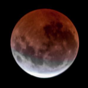 Partial eclipse. 5 April 2015 h00:49