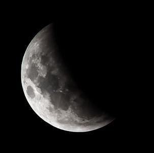 Partial eclipse. 4 April 2015 h23:58
