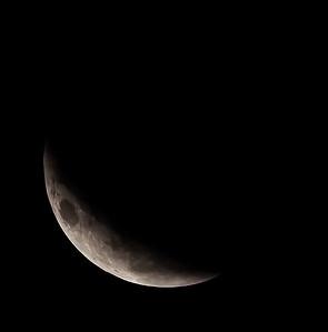 Partial eclipse. 5 April 2015 h00:23