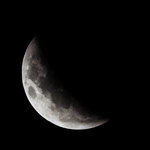 Partial eclipse. 5 April 2015 h00:08
