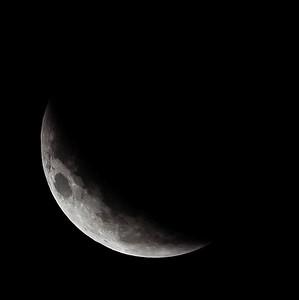 Partial eclipse. 5 April 2015 h00:17