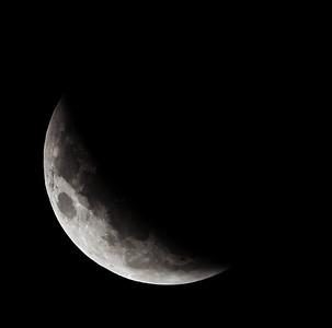 Partial eclipse. 5 April 2015 h00:12