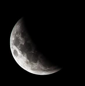 Partial eclipse. 5 April 2015 h00:03