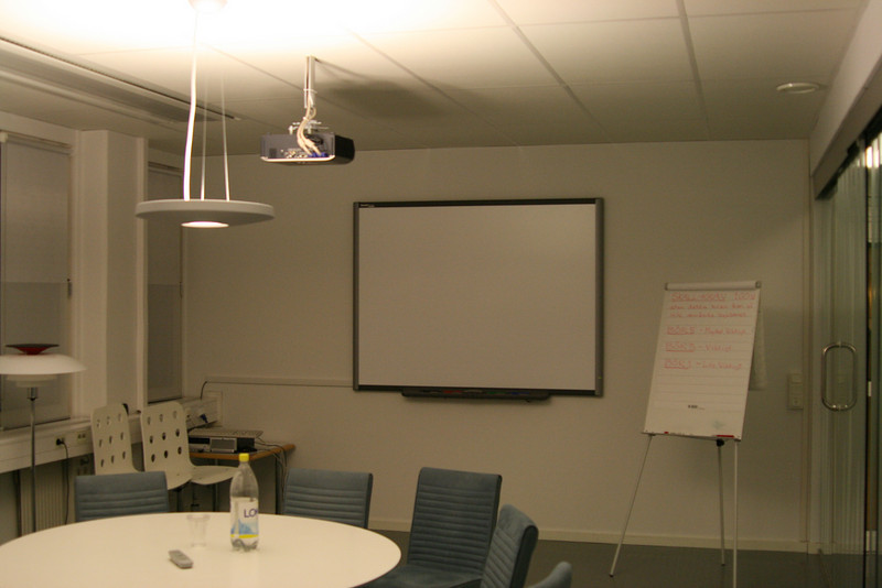 Conference room with point-and-click smartboard