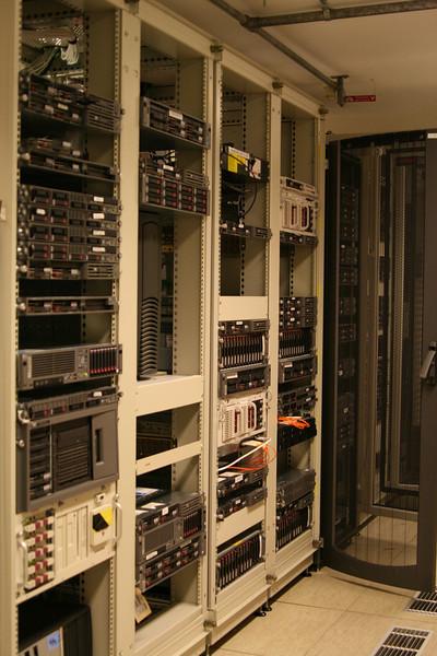 Racks of servers.
