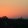 Sunrise, August 28, 2010.  Marriott Courtyard Hotel, 68th Street, West Des Moines, looking toward downtown Des Moines.