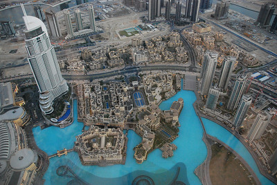 Looking down on the area of Dubai know as Old Town (which is an irony because its new).
