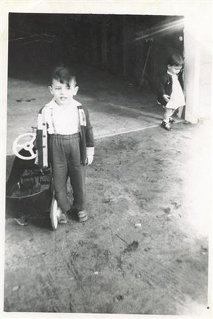 Donna and me with my first car.