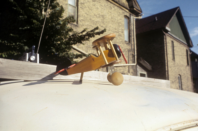 Biplane that I made for Eric around 1976.