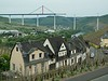A new bridge being built to cross the Mosel River.