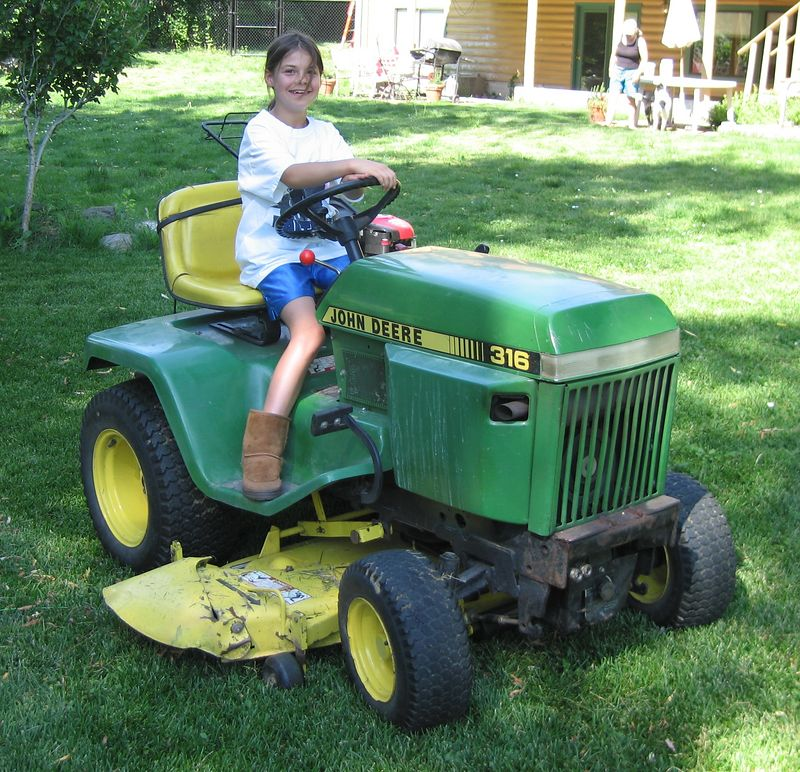 Melisa thinks my tractor's sexy