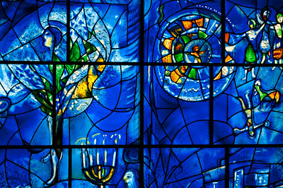 Chagall's America Windows at The Art Institue, Chicago