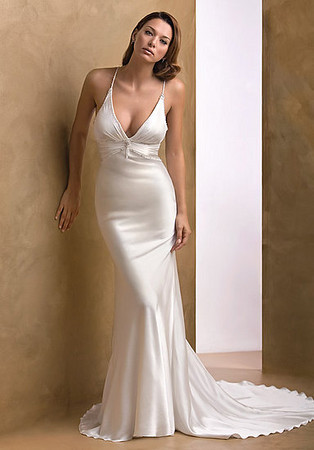 gorgeous simple sexy wedding dress