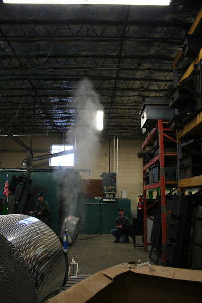 Attempting to set fire to saw dust