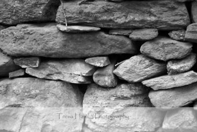 Grist Mill Stones (b/w)