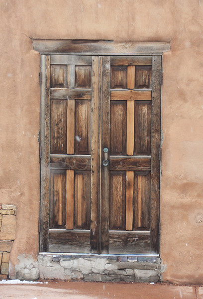 Door on the street, Taos, NM