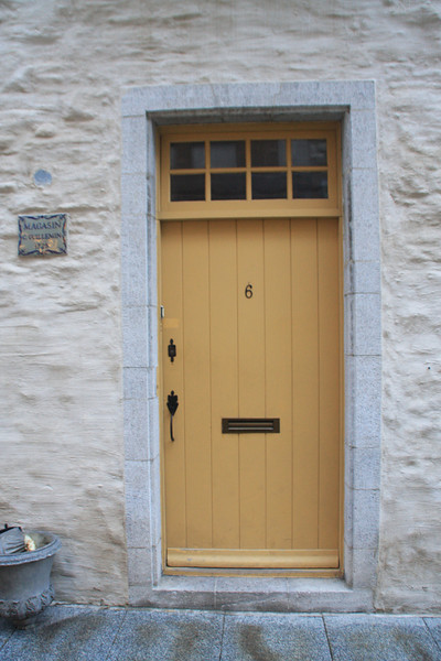 Residence door - in the Old City, Quebec City, Quebec