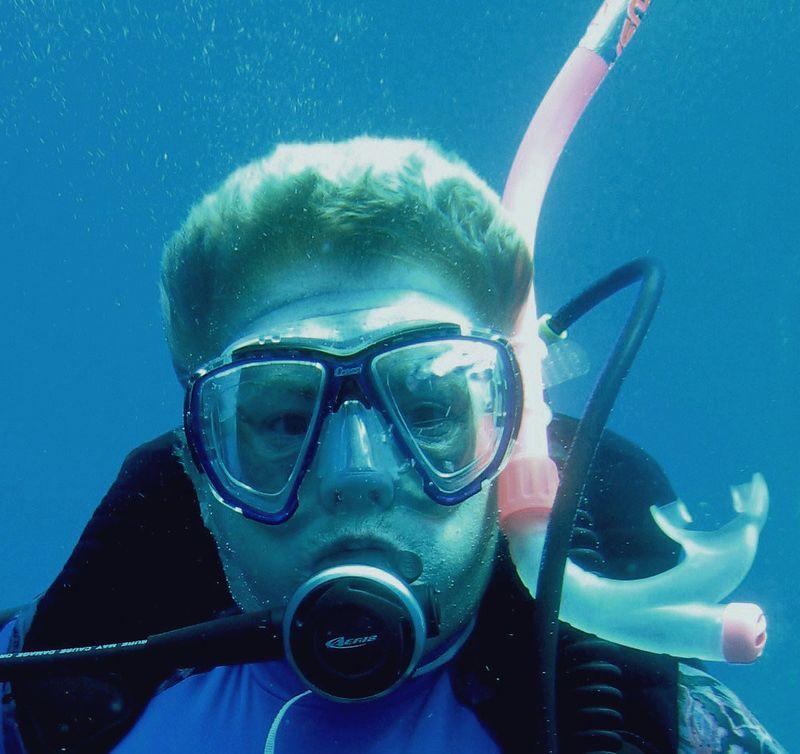 Me diving.
