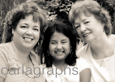 Three Generations Head Shot BW-