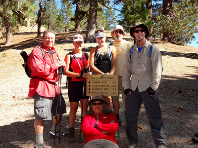 Three T's Group Hike - Timber, Telegraph & Thunder Mountains, Mt Baldy CA October 23, 2011