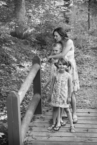 Fam on the Bridge bw-